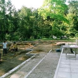 aanleg van de tuin